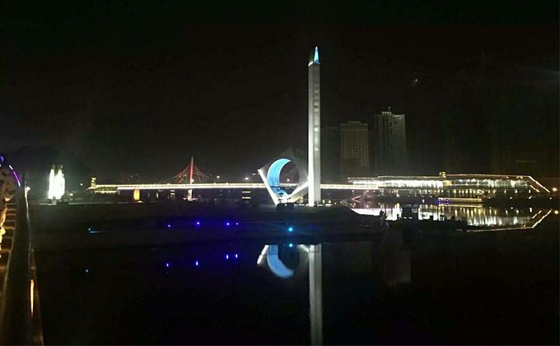 黄岩滨江公园夜景亮化