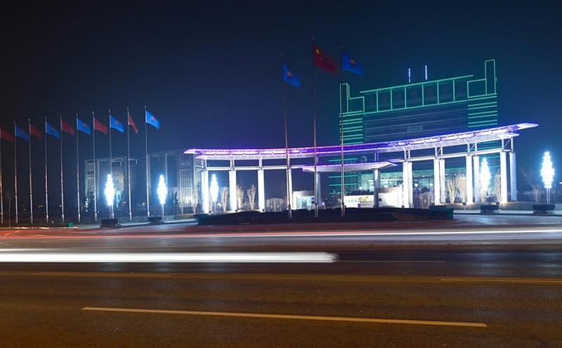 大港油田商业广场亮化
