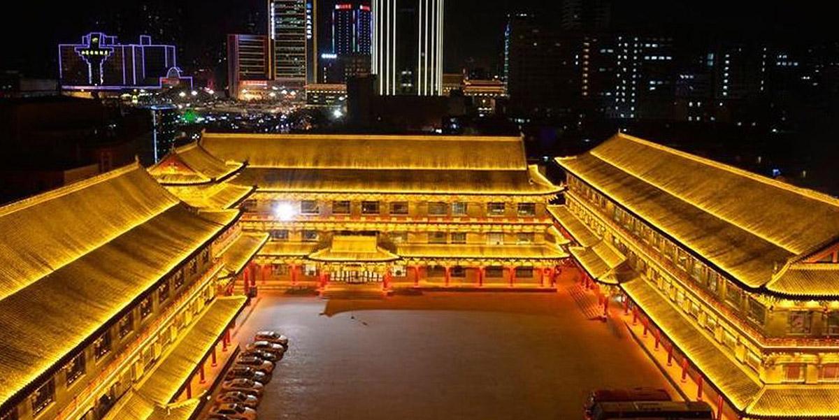 亮丽龙的山西饭店亮化工程项目
