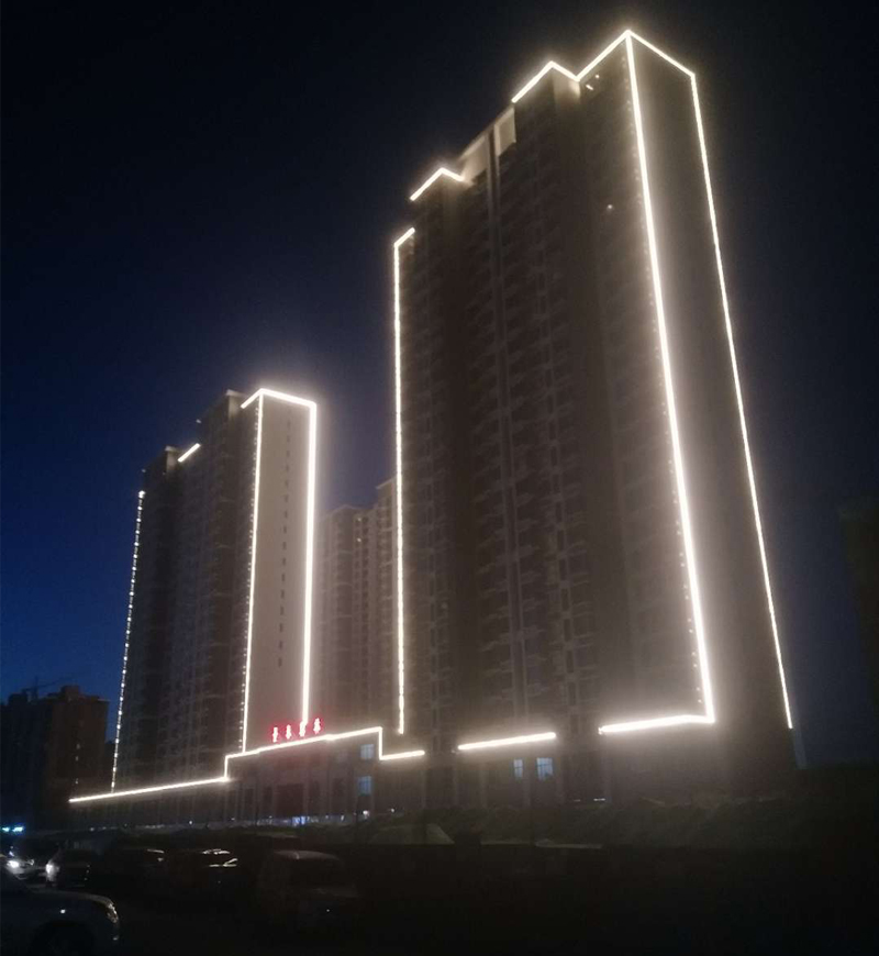 唐山景泰地产景泰翰林楼宇照明亮化工程