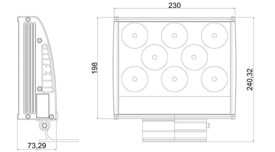 LED投光灯-产品结构图