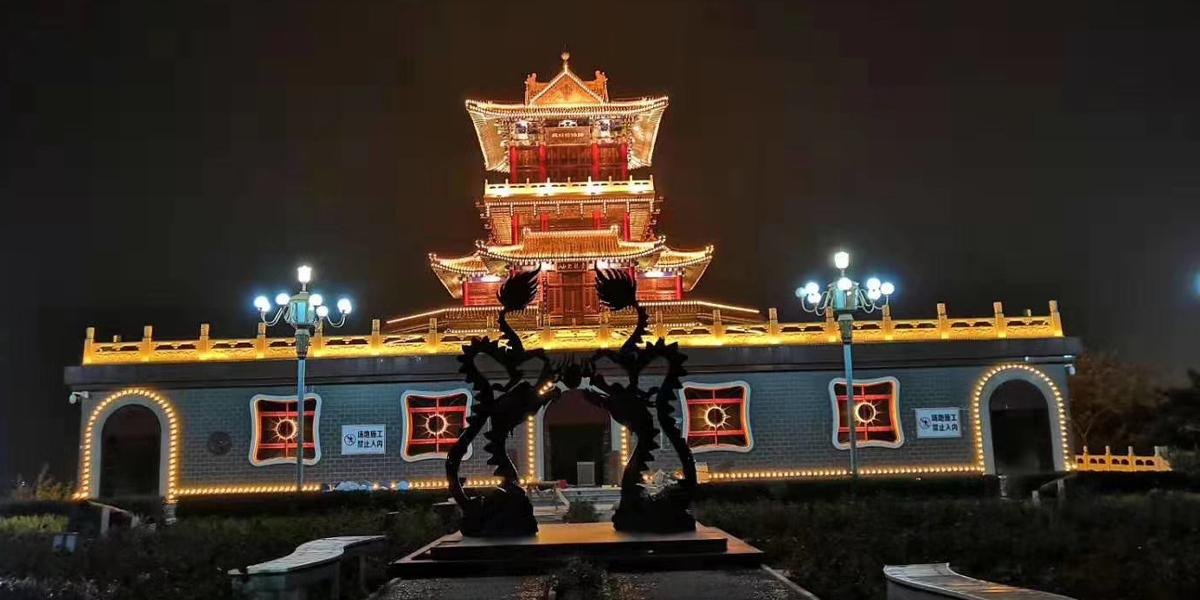 河北青龙阁古建筑亮化