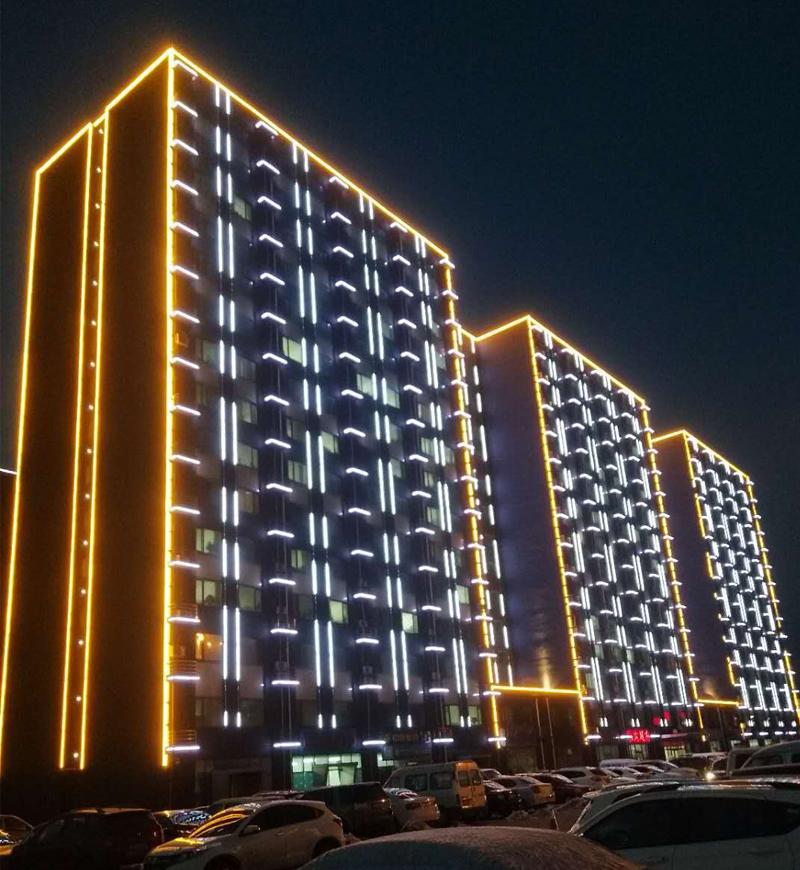河北唐山京唐公司协力大楼外墙灯光亮化工程