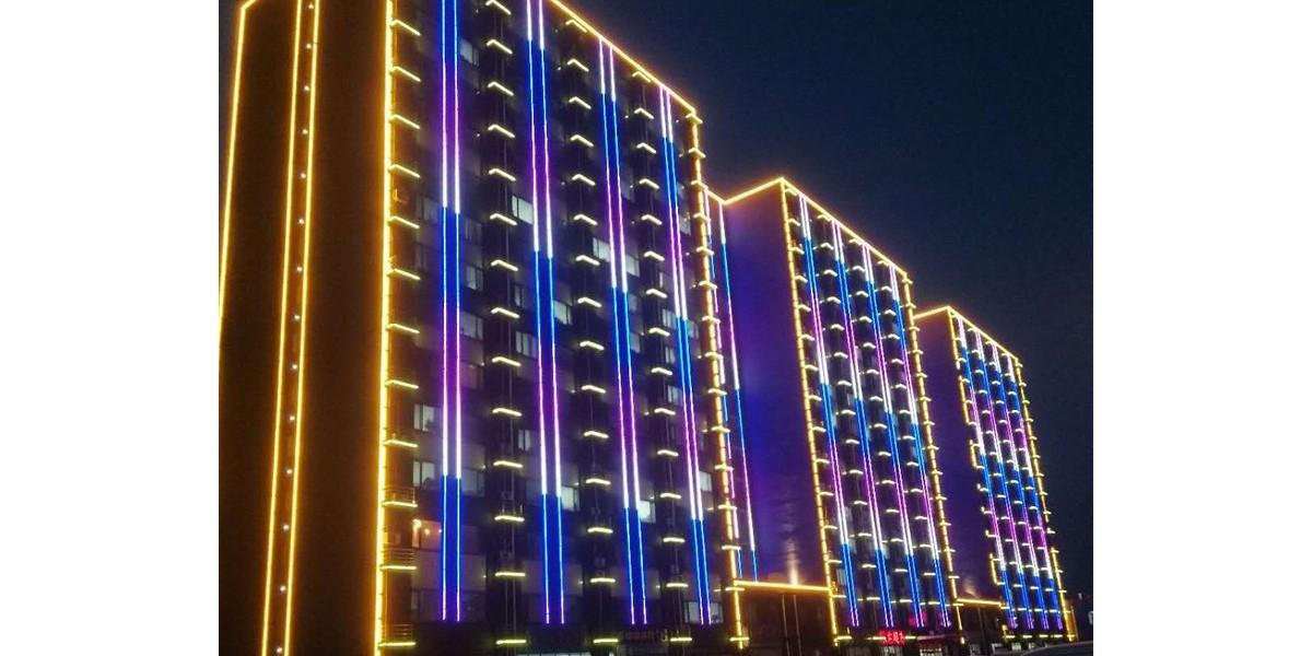 河北唐山京唐公司协力大楼外墙亮化