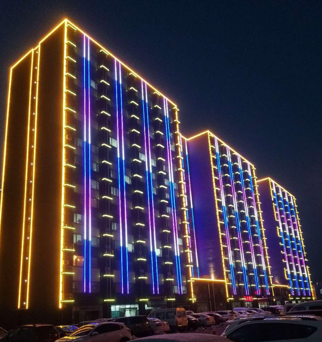 河北唐山京唐公司协力大楼外墙灯光亮化工程1.jpg