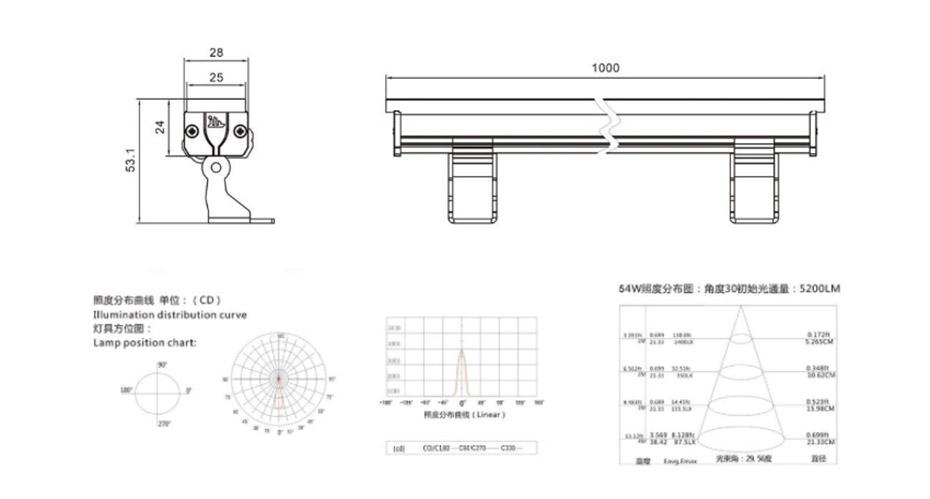 LED线条灯L-XTD2524产品结构图